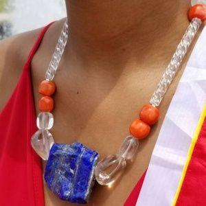 Jewelry - Lapis Lazuli and Quartz Statement Necklace